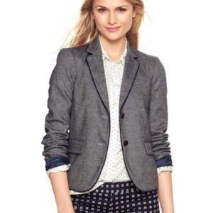 Gap Navy Blue Academy Tweed Blazer